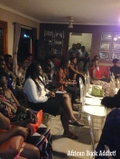 The audience at Ayesha H. Attah's reading