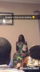 Ayesha H. Attah's reading at cafe - Cappa Cappuccino