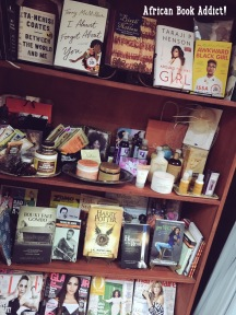 Awesome (but expensive) array of books on display at Brown Sugar boutique in Osu, Accra.