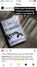 Yagazie and Akwaeke Emezi found my book review of Freshwater (2018) on Goodreads and appreciated my sentiments. My day was made!