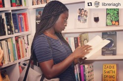 Image via LibreriaGH's Instagram. Me at the private preview of Libreria GH - the new/only library in Accra