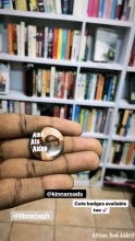 One of the African Women Writers Badges from Libreria - a new private library in Accra.