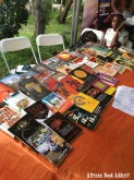 A bookstand at Pa Gya! Literary Festival, hosted by Writers Project Ghana