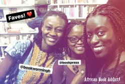 Me and my faves! Abena and Shika of bookstagram accounts - Bookwormingh & Bookpress, respectively
