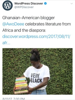 African Book Addict! was an Editor's pick on Wordpress Discover! One of the highlights of my year :)